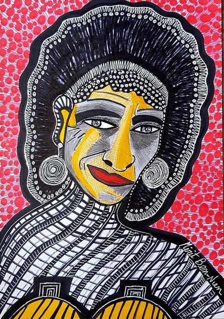 ציור הבעות פנים פרצופים מירית בן נון ציירת ישראלית