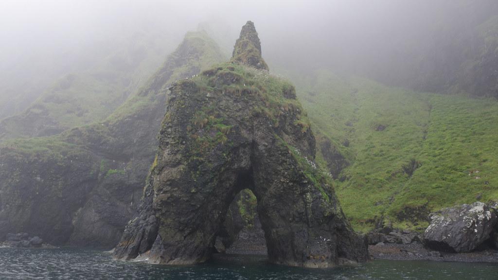 Canna rock arch
