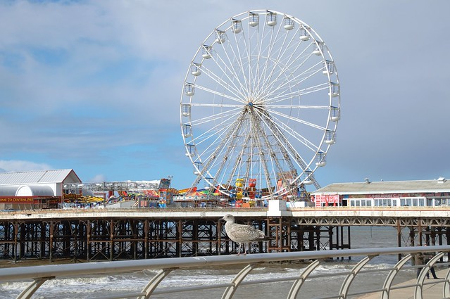 Big wheel on the pier at Blackpool