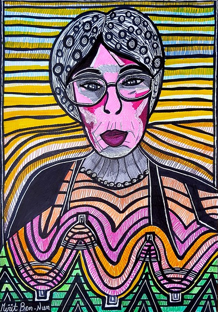ציורי פנים פרצופים הבעות מירית בן הון אמנית ציירת ישראלית