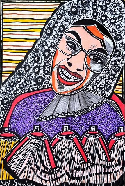 ציורי הבעות פנים פרצופים מירית בן נון אמנית ישראלית ציירת