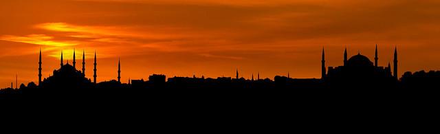 İstanbul Silüeti, Sultan Ahmet ve Ayasofya Camileri
