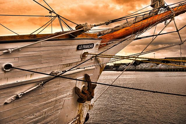Proue de voilier, Saint-Malo, le Français.