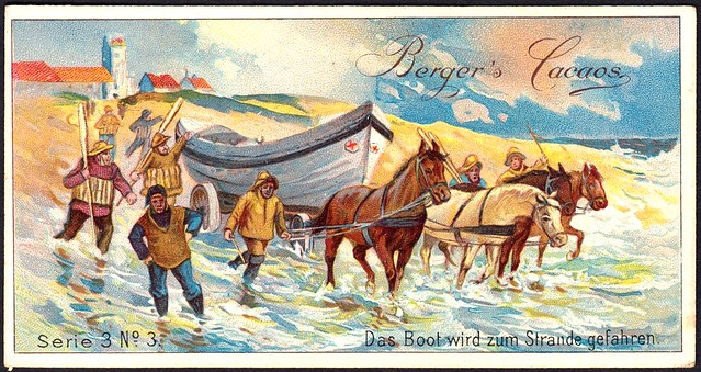 German Tradecard - The Boat is Driven to the Beach