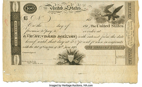 1812 $100 Treasury Note