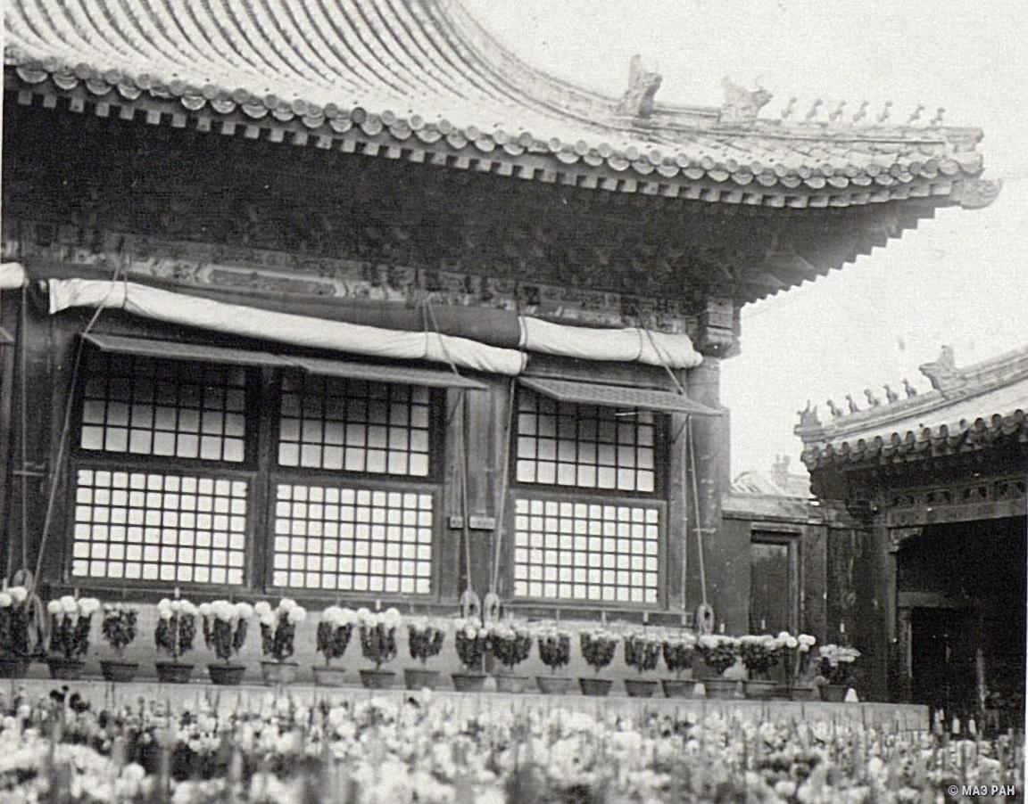 Павильон Ян -синь-дин во время проживания в нем императора Пу-и