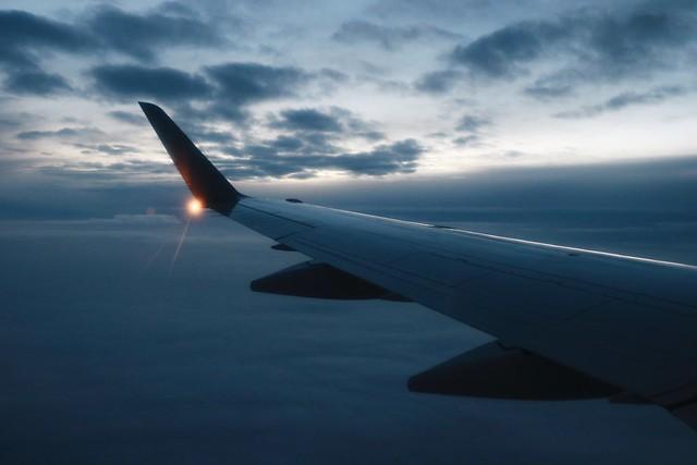 Flight to Hokkaido on Japan Airlines(JAL).