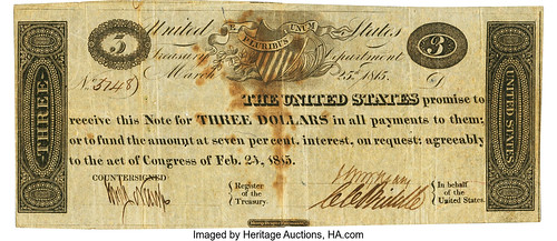 1815 $3 Treasury Note