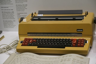 Typewriter c. 1972, Science Museum, Exhibition Road, South Kensington, Royal Borough of Kensington and Chelsea, London, SW7 2DD