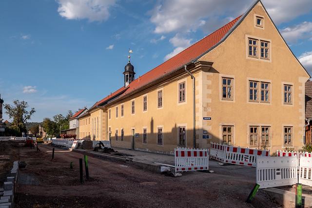 Blankenburg (Harz): Georgenhof in der Herzogstraße - Georgenhof (St. George's Court) in Herzogstraße (Duke Street)