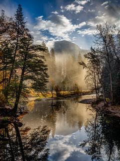 Misty Half Dome Reflection
