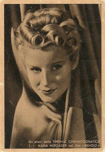 Maria Mercader in Brivido (1941)