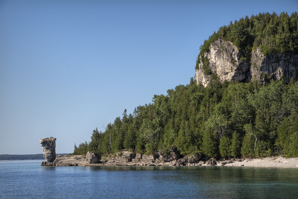 Flowerpot Island, part of the Fathom Five National Marine Park