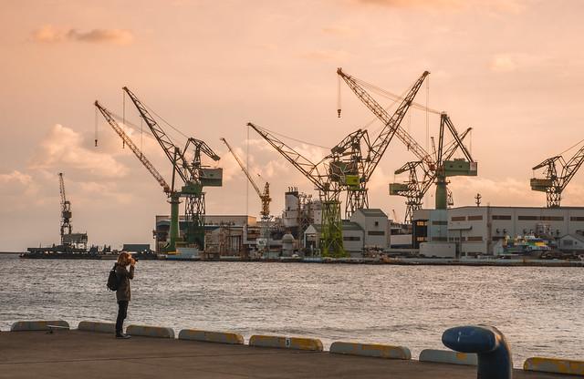 Kobe Port Sunset - Japan