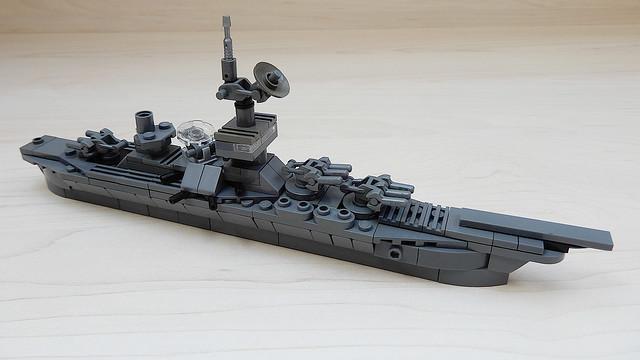 How to Build a Microscale Lego Battleship (MOC - 4K)
