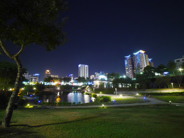 秋紅谷 夜景