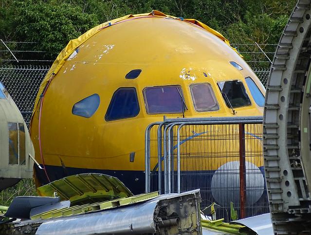 G-AVFM Hawker Siddeley HS.121 Trident 2E ex British Airways nose section