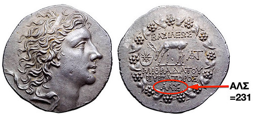 reading dates on Greek coins