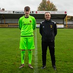 Vice-Captain Cameron Middleton with Sammy McFadyen who is working as goalkeeping coach