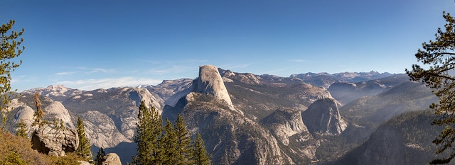 Panorama of Yosemite from Washburn Point, Glacier Point Road