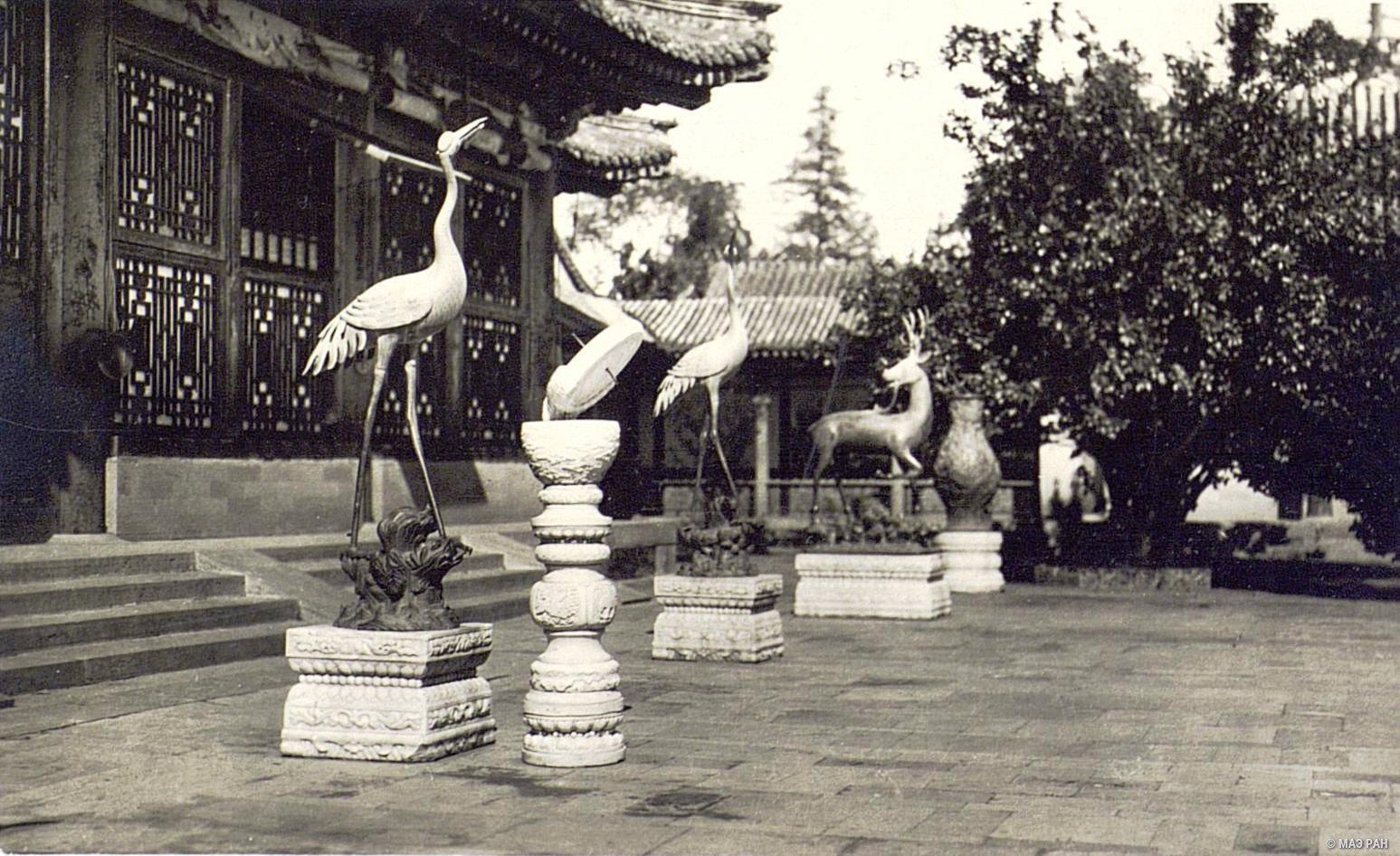 Парк Ихэюань. Изображения птиц и животных перед павильоном Лэшоутан (зал радости и долголетия) в летнем дворце
