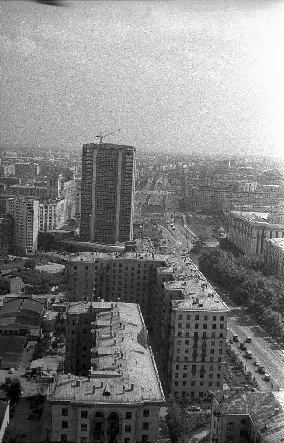 1965. Волоколамское шоссе. Развилка Ленинградского и Волоколамского шоссе
