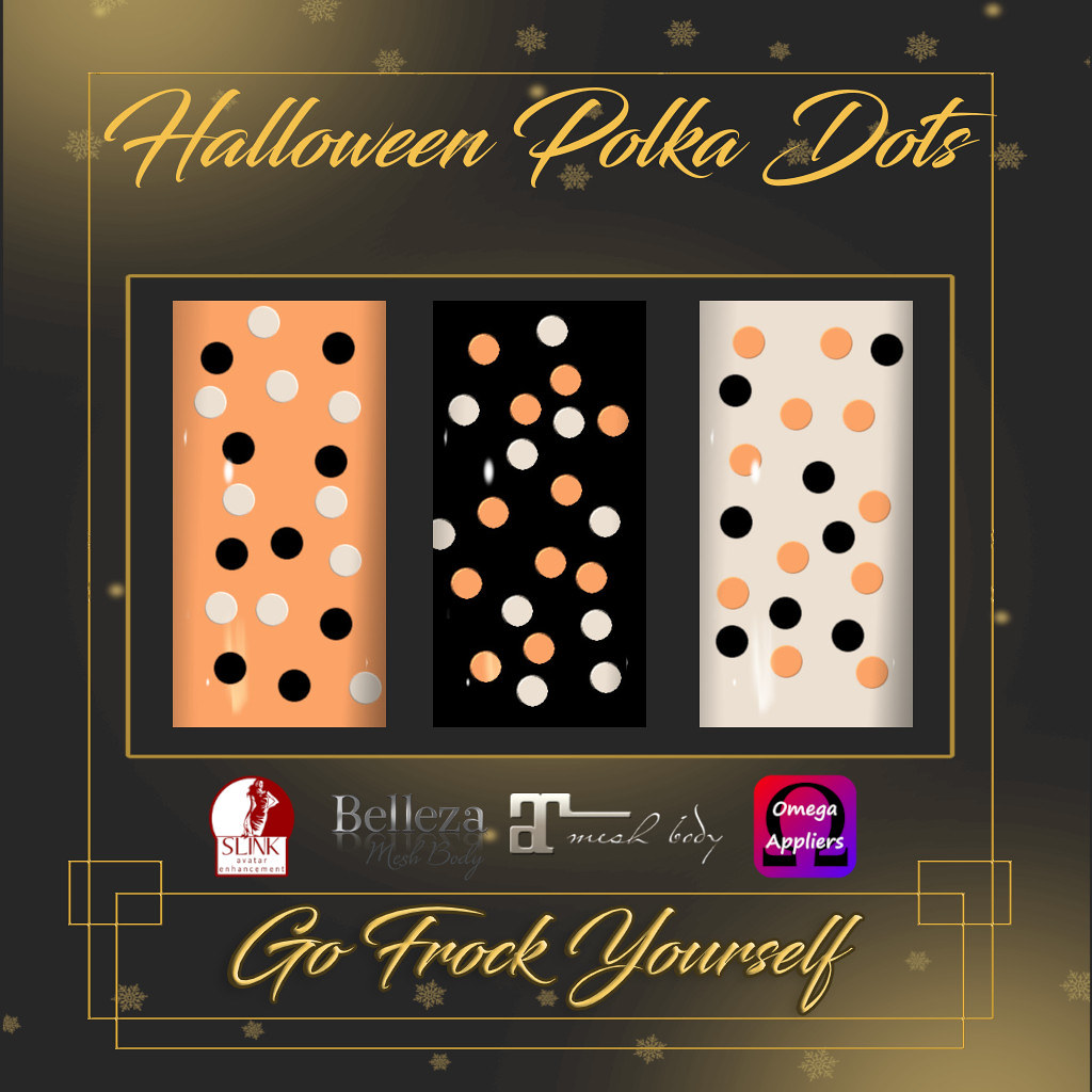 GFY-Halloween Polka Dots Nail Appliers