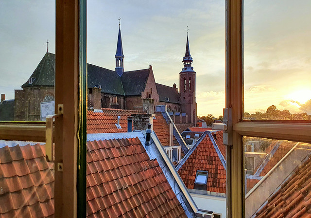 Happy Sunday ! / View in Utrecht over the roofs towards St. Catherine's cathedral, the Netherlands