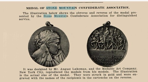 Stone Mountain Distinguished Service Medal May1927 Numismatist