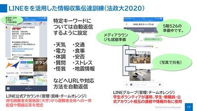 大学における災害時のLINE活用訓練(法政大2020)
