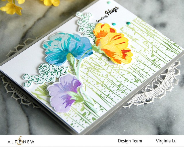 10272020-Birch Forest-Sweet Flowers Stamps & Die Bundle-001