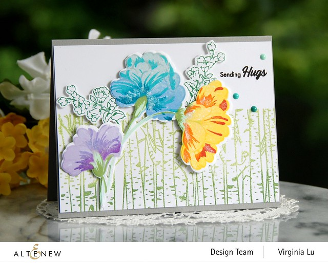 10272020-Birch Forest-Sweet Flowers Stamps & Die Bundle