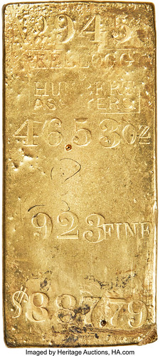 Kellogg & Humbert MS Gold Ingot. 46.53 Ounces_Heritage_Auctions