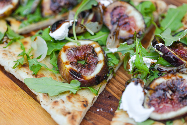 Grilled Flatbread with Charred Shallots and Figs