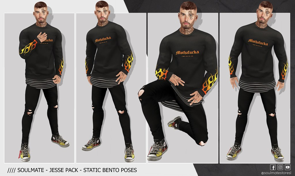 🔸SOULMATE - JESSE Pack - Static Bento Poses