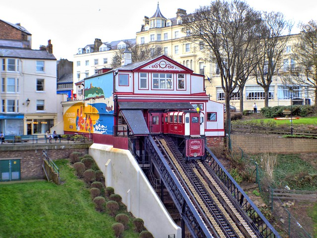 Cliff side tram at Scarborough