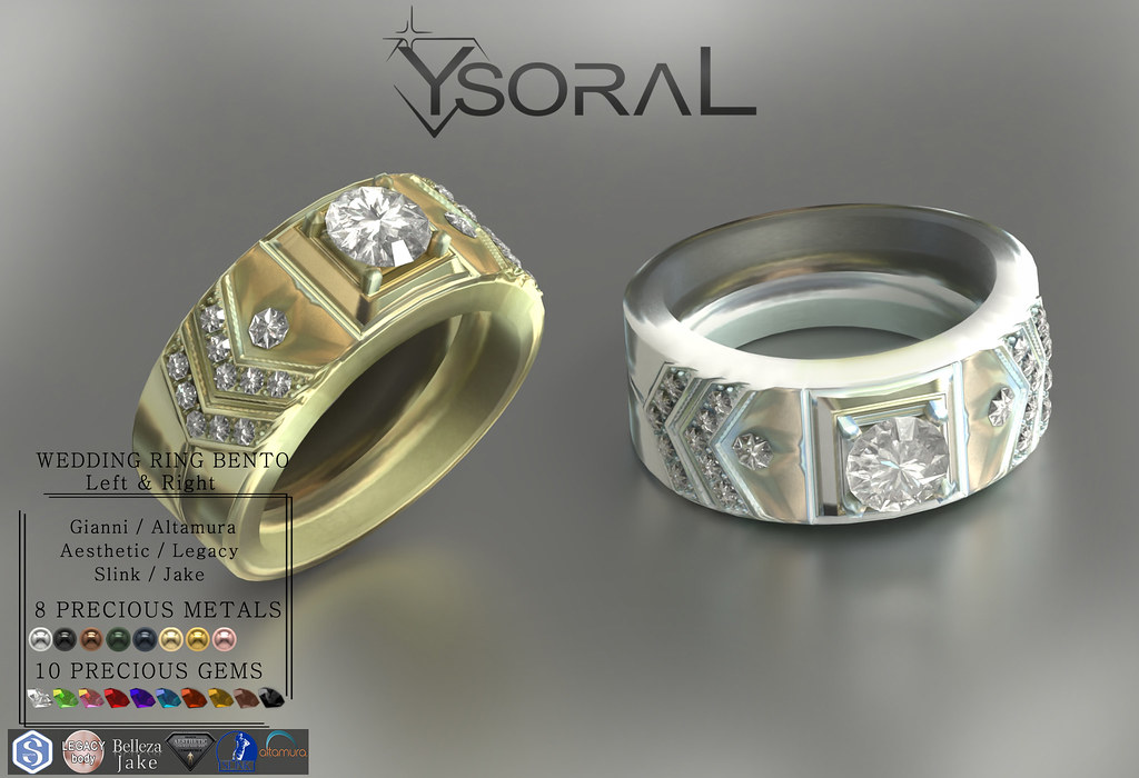 ~~ Ysoral ~~ .: Luxe wedding ring Enzo :.(WEDDING RING BENTO)