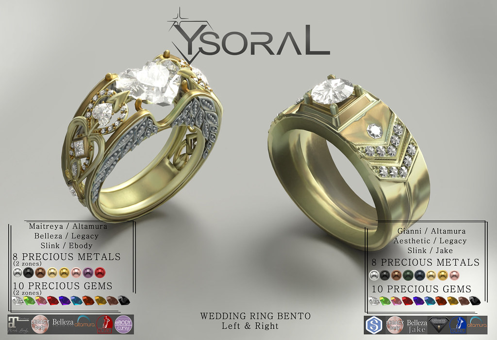 (BENTO)~~ Ysoral ~~ .: Luxe wedding ring Candice & Enzo :.