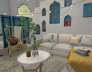 Interior: Blue Boho Escape