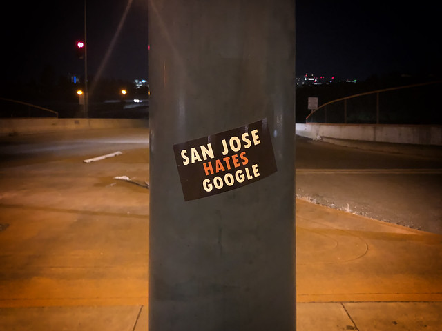 San Jose Hates Google - Guadalupe Freeway - San Jose - California