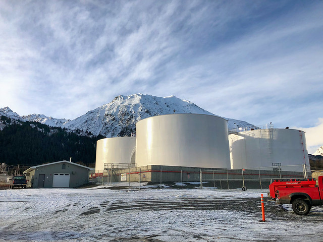Shoreside Petroleum Oil Storage Tanks - Seward - Alaska