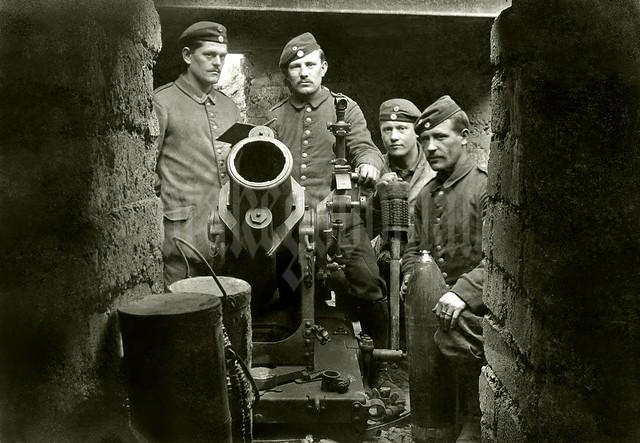Bavarian 25 cm schwerer Minenwerfer (sMW) position