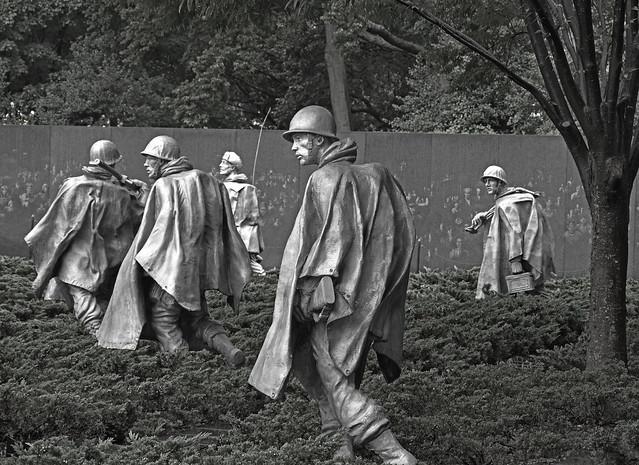 Korean Memorial bw