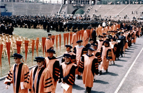 Graduation ceremony June 6, 1965, Syracuse University, NY