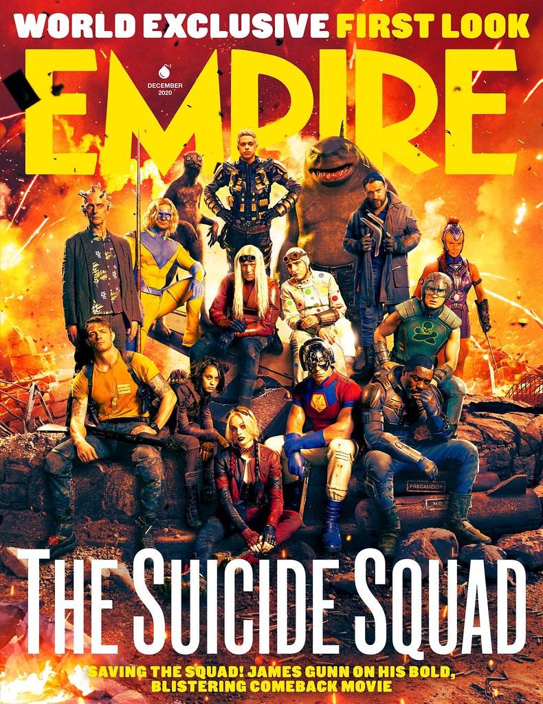 《自殺突擊隊:集結》登《帝國》雜誌封面!導演詹姆士岡恩率隊入鏡大團拍