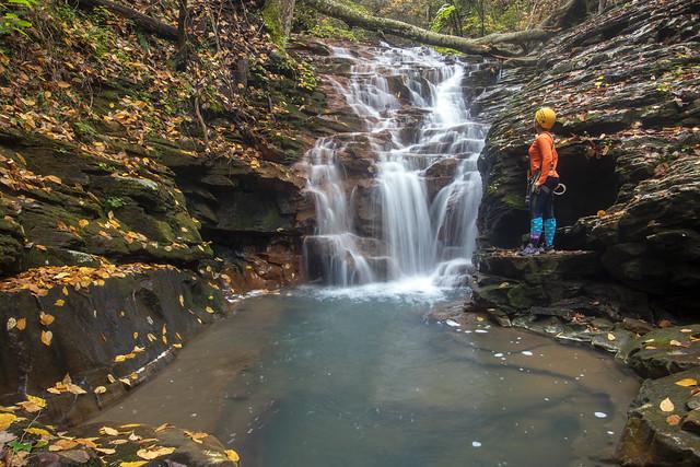 Megan Atkinson, Frugurt Cascade, Cumberland Trail, Possum Greek Gorge Section, Hamilton County, Tennessee 1