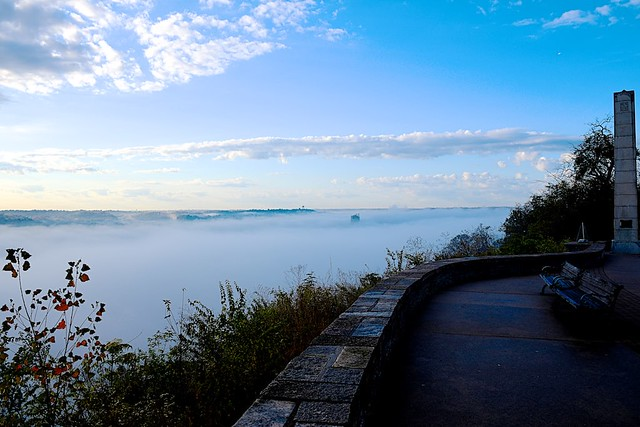 Fog Filled Ohio River Valley looking to the southwest