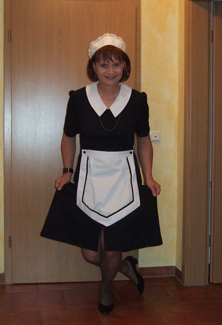 Maid Marie curtseying