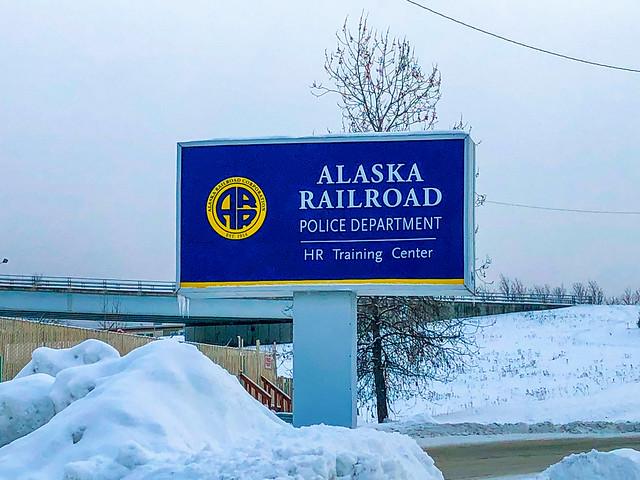 Alaska Railroad Police Department - Human Resources Training Center Sign - Anchorage - Alaska