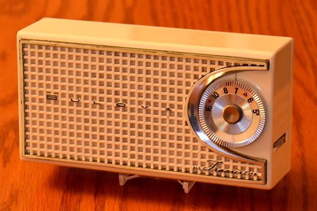 Vintage Bulova Transistor Radio, 290P Series, AM Band, 4 Transistors, Made In USA, Circa 1957